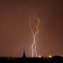 Gewitter und Blitze über Leipzig Richtung NordOst