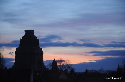 Sonnenuntergang Leipzig Stötteritz