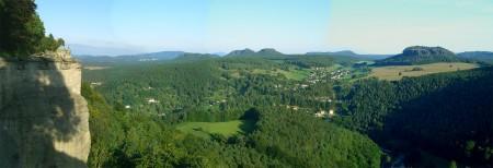 Panoramablick von der Festung ins Hinterland